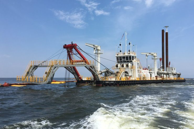 214' x 46' Cutter Suction Dredge