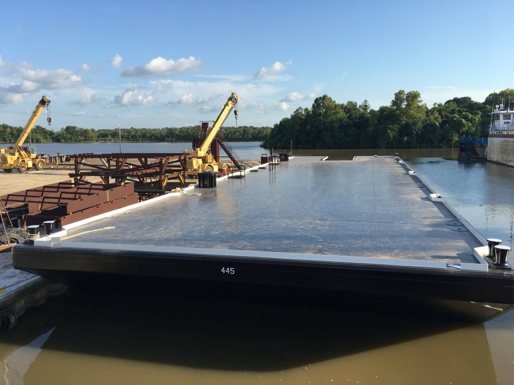 150' x 45' Spud Barge